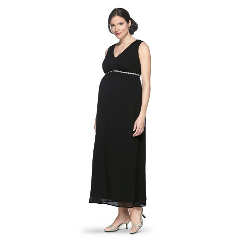 Maternity Sleeveless V Neck Maxi Dress-Merona®