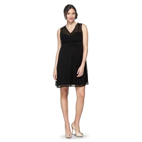 Maternity Sleeveless V Neck Dress-Merona®