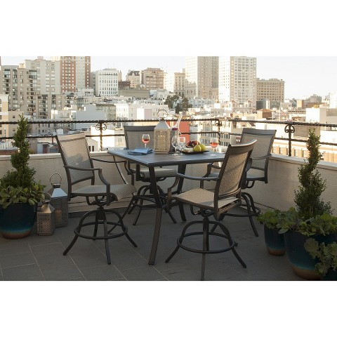Threshold Harriet 5 Piece Sling Balcony Height Patio Dining Furniture Set