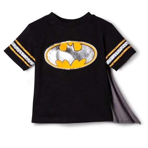 Batman Infant Toddler Boys' Short Sleeve Cape Tee