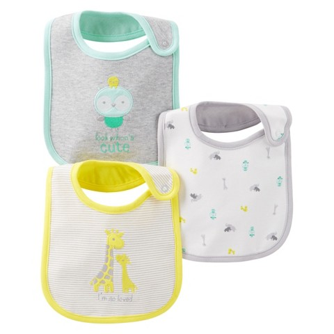 Just One You™Made by Carter's® Newborn 3 Pack Bib Set - Yellow