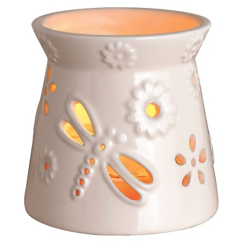 Wax Free Warmer Set-2 Extra Fragrance Disks included - Cream Flower