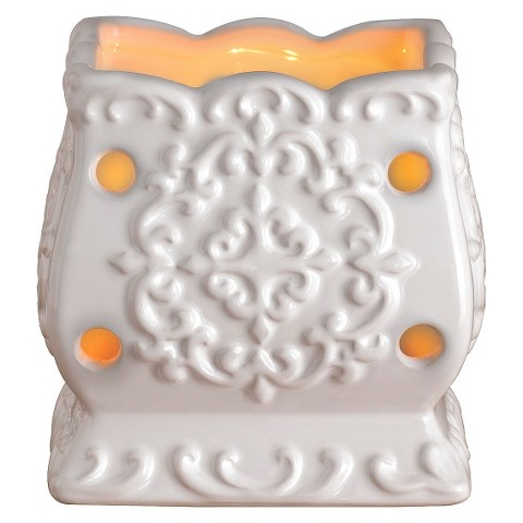 Wax Free Warmer Set-2 Extra Fragrance Disks included - White Square