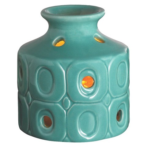 Wax Free Warmer Set-2 Extra Fragrance Disks included - Teal Oval