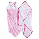 Just One You™Made by Carter's® Newborn Girls' 2 Pack Mouse Bath Towel Set - Pink