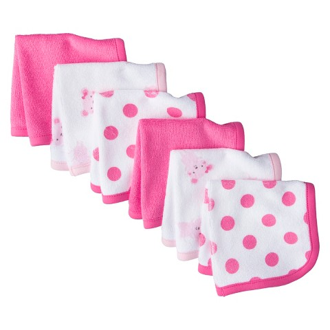 Just One You™Made by Carter's® Newborn Girls' 6 Pack Mouse Washcloth Set - Pink