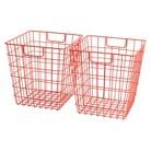 Room Essentials™ Wire Decorative Basket Set of 2 - Orange