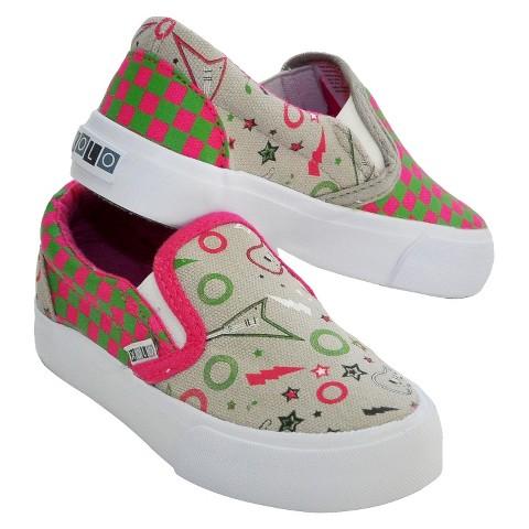 Toddler Girl's Xolo Shoes Rocker Girl Canvas Sneakers - Gray
