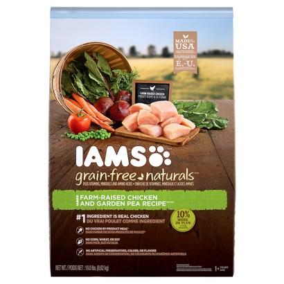 Iams Grain Free Naturals Dry Dog Food Chicken & Garden Pea Recipe 17.2 lbs