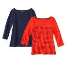 Women's Refined 3/4-Sleeve Boatneck T...