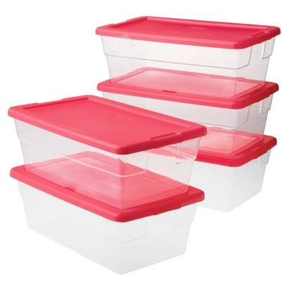 Room Essentials™ 6 Qt./1.5 Gal. Clear Storage Bin - Pink