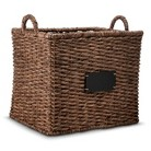 Smith & Hawken® Square Basket with Chalkboard - Dark Finish 16