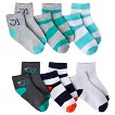 Circo® Infant Toddler Boys' Assorted Low Cut Socks - Turquoise