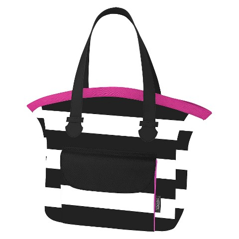 Raya 9 Can Tote - Pink Stripe