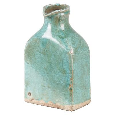 "9"" Ceramic Vase - Teal"