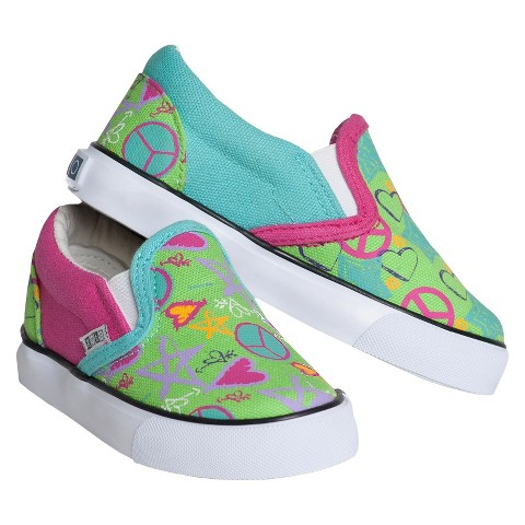 Toddler Girl's Xolo Shoes Doodle 2 Twin Gore Canvas Sneakers - Multicolor