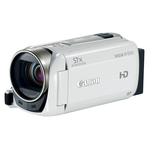 Canon VIXIA HF R500 Flash Memory Digital Camcorder with HD-1080p - White