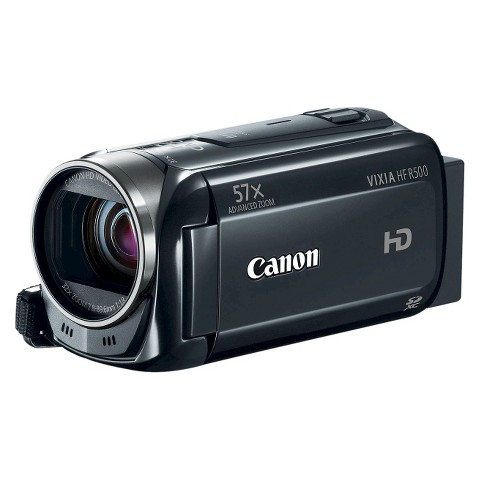 Canon VIXIA HF R500 Flash Memory Digital Camcorder with HD-1080p - Black