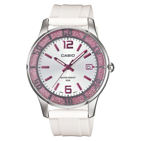 Women's Casio Analog Watch - Pink Bezel