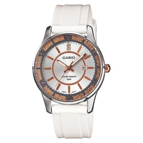 Women's Casio Analog Watch - Gold Bezel