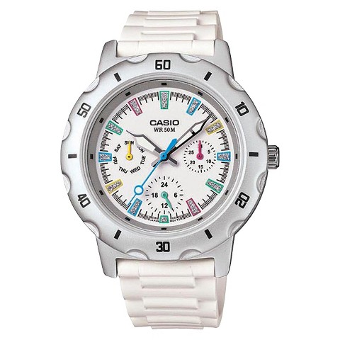 Women's Casio Sport Analog Watch - White