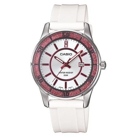 Women's Casio Analog Watch - Pink Bezel