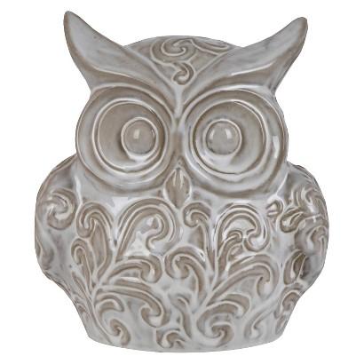 """10"""" Ceramic Owl - White"""