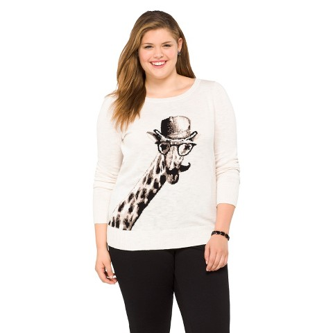 Plus Size Long Sleeve Pullover Sweater-Mossimo Supply Co