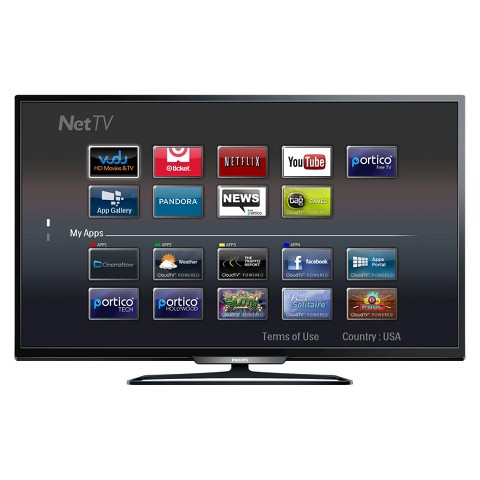 "Philips 49"" Class 1080p 60Hz Smart LED HDTV - Black (49PFL4909/F7)"