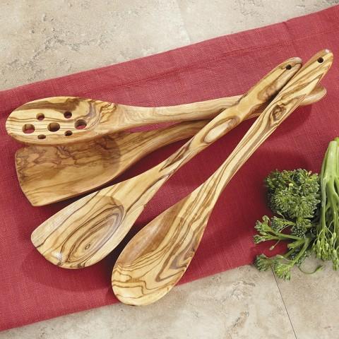 CHEFS 4-pc. Kitchen Utensil Set - Olive Wood