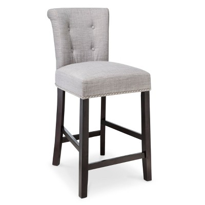 """Scrollback with Nailhead 24"""" Counter Stool Dove Gray - OSP Designs"""