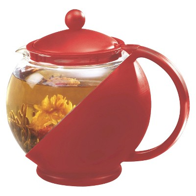 TEA POT PRIM 40OZ. RED