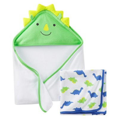 Just One You™Made by Carter's® Newborn Boys' 2 Pack Dinosaur Towels - Blue/Greey