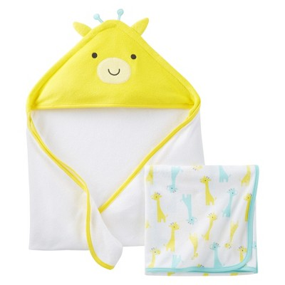 Just One You™Made by Carter's® Newborn 2 Pack Giraffe Towels - Yellow