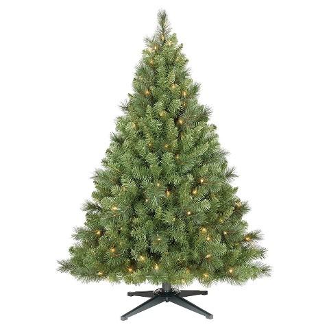 4.5 ft. Pre-Lit Douglas Fir Artificial Christmas... : Target