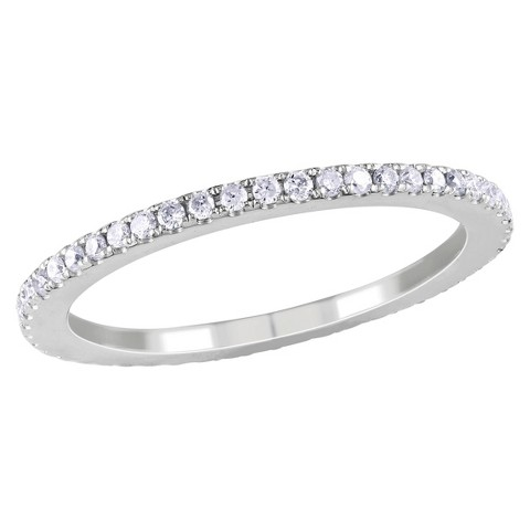 1/2 CT.T.W. Diamond Eternity Buttercup Ring in 14K White Gold (GH I1-I2)