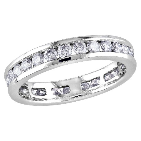 1 CT.T.W. Diamond Eternity Channel Ring in 14K White Gold (GH I1-I2)