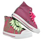 Girl's Xolo Shoes Hot-Z High Top Canvas Sneakers - Pink