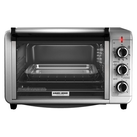 Countertop Convection Oven Black And Decker : Black & Decker Stainless Steel Convection 6 Slice Toaster Oven product ...