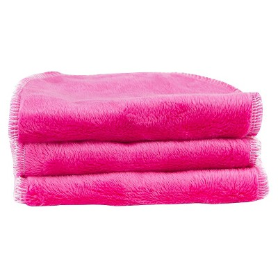 Blooming Bath Petals Washcloths 3pk - Hot Pink