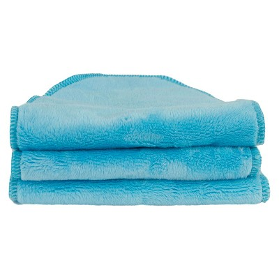 Blooming Bath Petals Washcloths 3pk - Turquoise