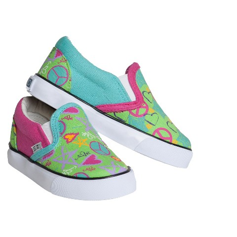 Girl's Xolo Shoes Doodle 2 Twin Gore Canvas Sneakers - Multicolor