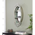 """Southern Enterprises Decorative Oval Wall Mirror with Shelves, 36"""""""