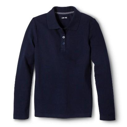 Cherokee® Girls' School Uniform Long-Sleeve Polo