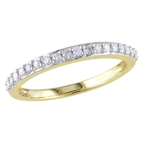 1/4 CT.T.W. Diamond Stacked Shared Prongs Set Ring in 14K Yellow Gold (GH I1-I2)