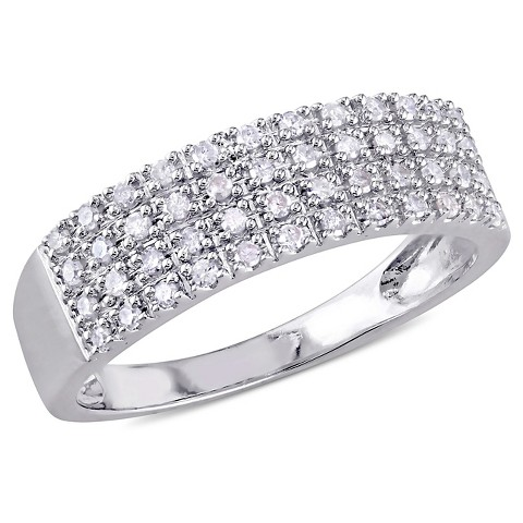 1/4 CT.T.W. Diamond Multi Row Buttercup Set Ring in Sterling Silver (GH I2 -I3)