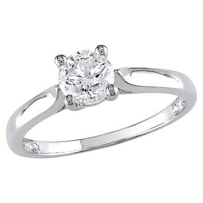 3/4 CT.T.W. Diamond Solitaire Four Prong Set Ring in White Gold (GH I2 -I3)