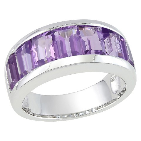 4 1/5 CT.T.W.  Pink Amethyst Channel Ring in Sterling Silver
