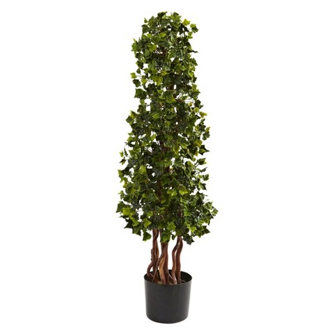 Nearly Natural 3.5' English Ivy Spiral UV Resistant (In-Door/Out-Door)