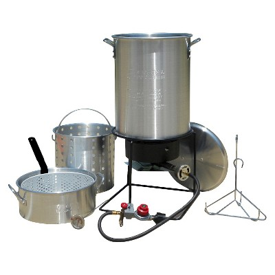 King Kooker® Portable Propane Outdoor Deep Frying/Boiling Package with Two Aluminum Pots